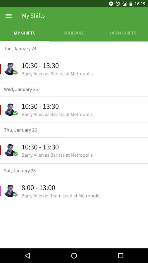 When I Work Scheduling- screenshot