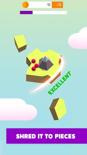 Skyland Cut - Slash islands to catch balls mod apk 1.0 screenshots 1