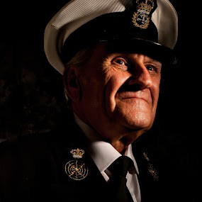 old sailor by Kevin Towler - People Portraits of Men ( old, single, color, uniform, male, portrait, man,  )
