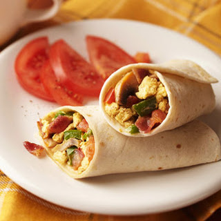 Bacon and Egg Breakfast Wraps.
