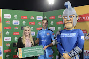 Ram Slammer of the match, Aiden Markram of the Titans during the RAM SLAM T20 Challenge, Semi Final match between Multiply Titans and Warriors at SuperSport Park on December 13, 2017 in Pretoria, South Africa.