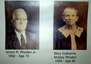 Photo: Isham R Rhoden and Mary Catherine Mobley Rhoden