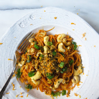 Sweet Potato Noodles with Thai Pesto