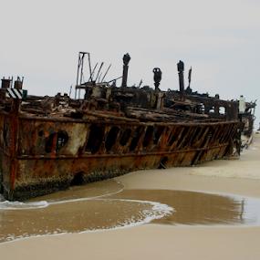 by Reinilda Sissons - Transportation Boats ( fraser island australia, fraser island,  )