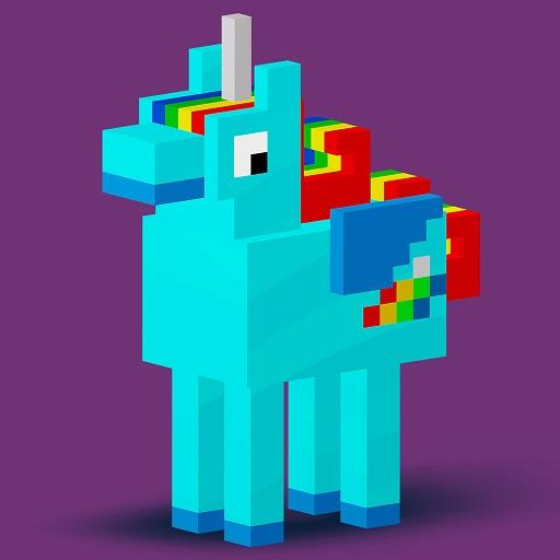 Animals 3D Color by Number - Voxel, Pixel Coloring Icon