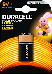 Duracell Plus Power Alkaline Battery - 9V
