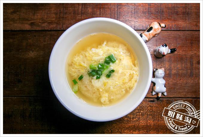 麵、微涼味噌蛋花湯