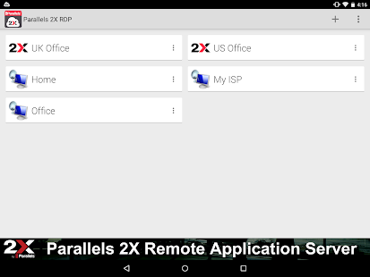 Parallels 2X RDP- screenshot thumbnail