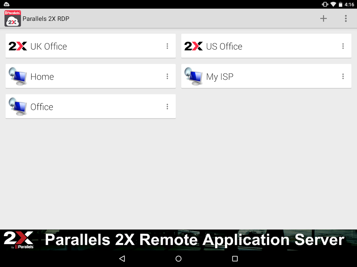 Parallels 2X RDP- screenshot