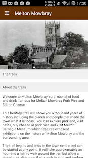 Melton Mowbray Heritage Trail- screenshot thumbnail