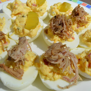 Pulled Pork Pimento Cheese Deviled Eggs Recipe