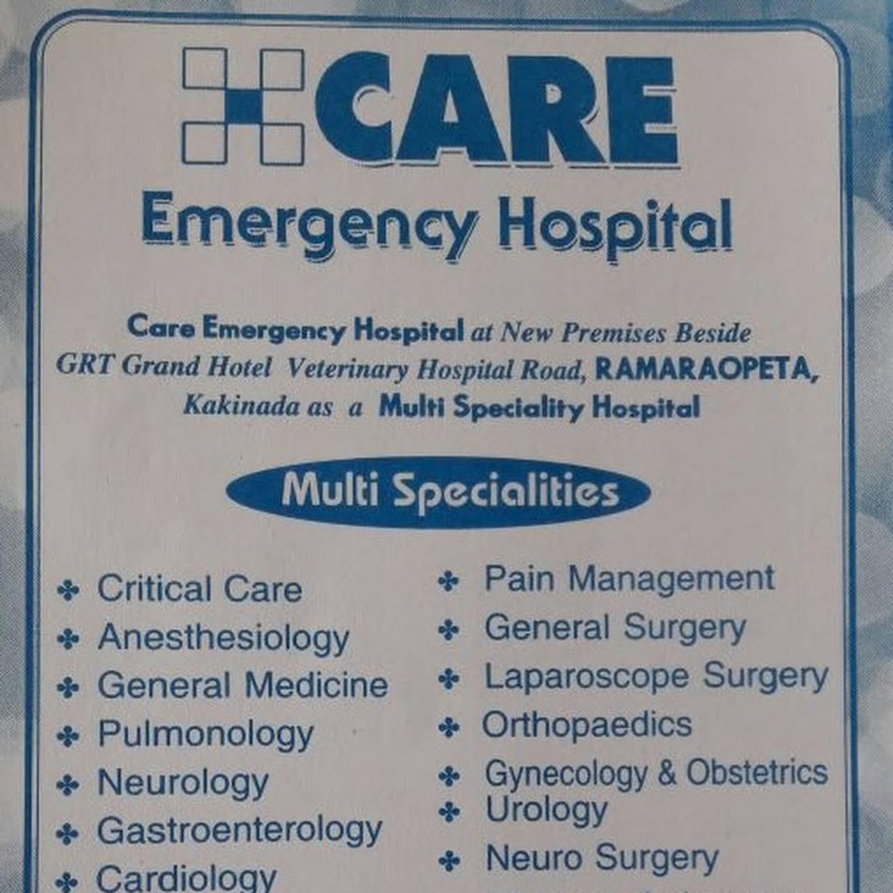 Care Emergency Hospital - Multi Specialty Hospital in Kakinada