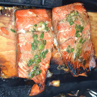 Green Onion Grilled Salmon.