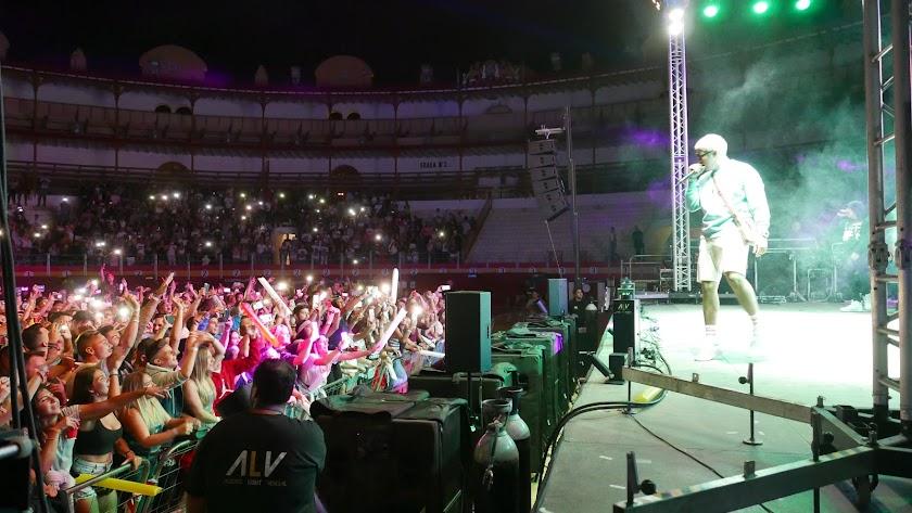 Imagen del concierto de Bad Bunny en 2017 en Almería capital.