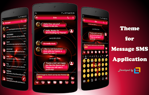 SpheresRed SMS Zprávy - náhled