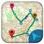 Route Finder On Maps & Navigation Icon