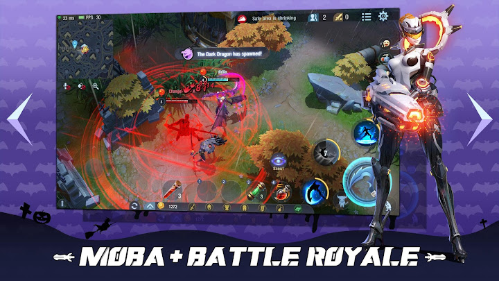 Survival Heroes - MOBA Battle Royale Android App Screenshot