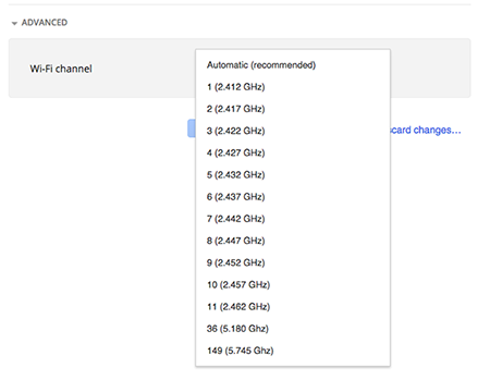 Change Wi-Fi channel in Google Fiber account