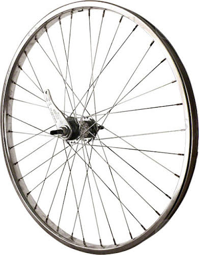 Sta-Tru 24 inch Silver Coaster Brake Steel Rim with Bolt-on Axle