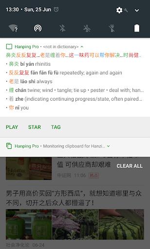Screenshot for Hanping Chinese Dictionary Pro 汉英词典 in Hong Kong Play Store
