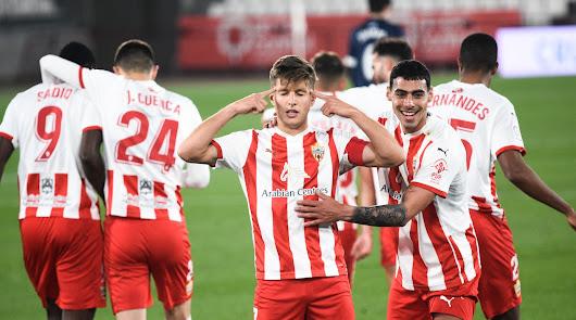 Celebración especial de un José Corpas que llega a los 11 goles.