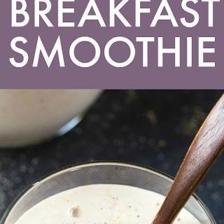 Healthy 3 Ingredient Banana Breakfast Smoothie.