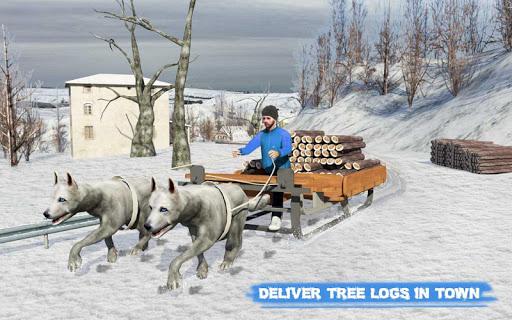 Snow Dog Sledding Transport Games: Winter Sports 1.4 screenshots 9