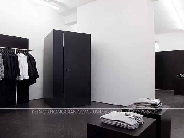 Thiết kế shop thời trang nam black 6