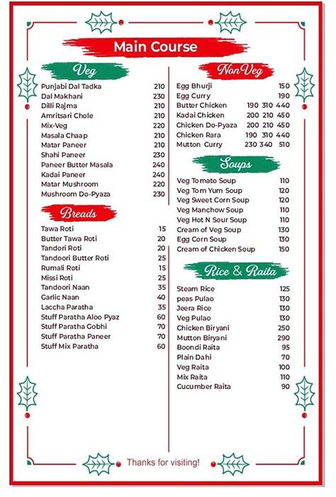 Cooknook menu 3
