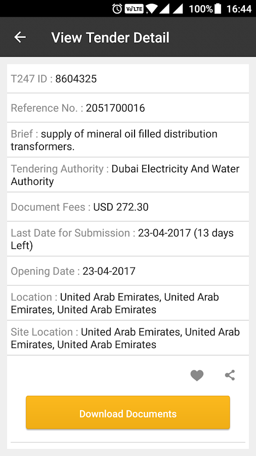 Tender247 App- screenshot