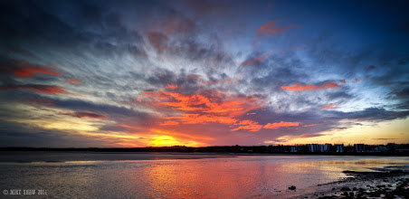 Photo: Looking out over the banks of the river Mersey, just another sunrise.