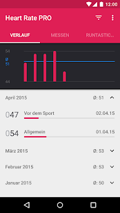 Runtastic Heart Rate PRO Puls Screenshot