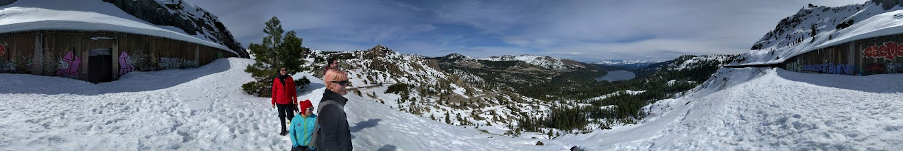 Photo: Looking to Donner Lake from abandoned train tunnel