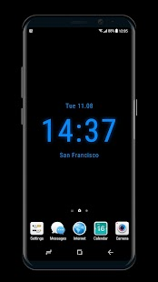 Clock on Homescreen  Live Wallpaper - náhled