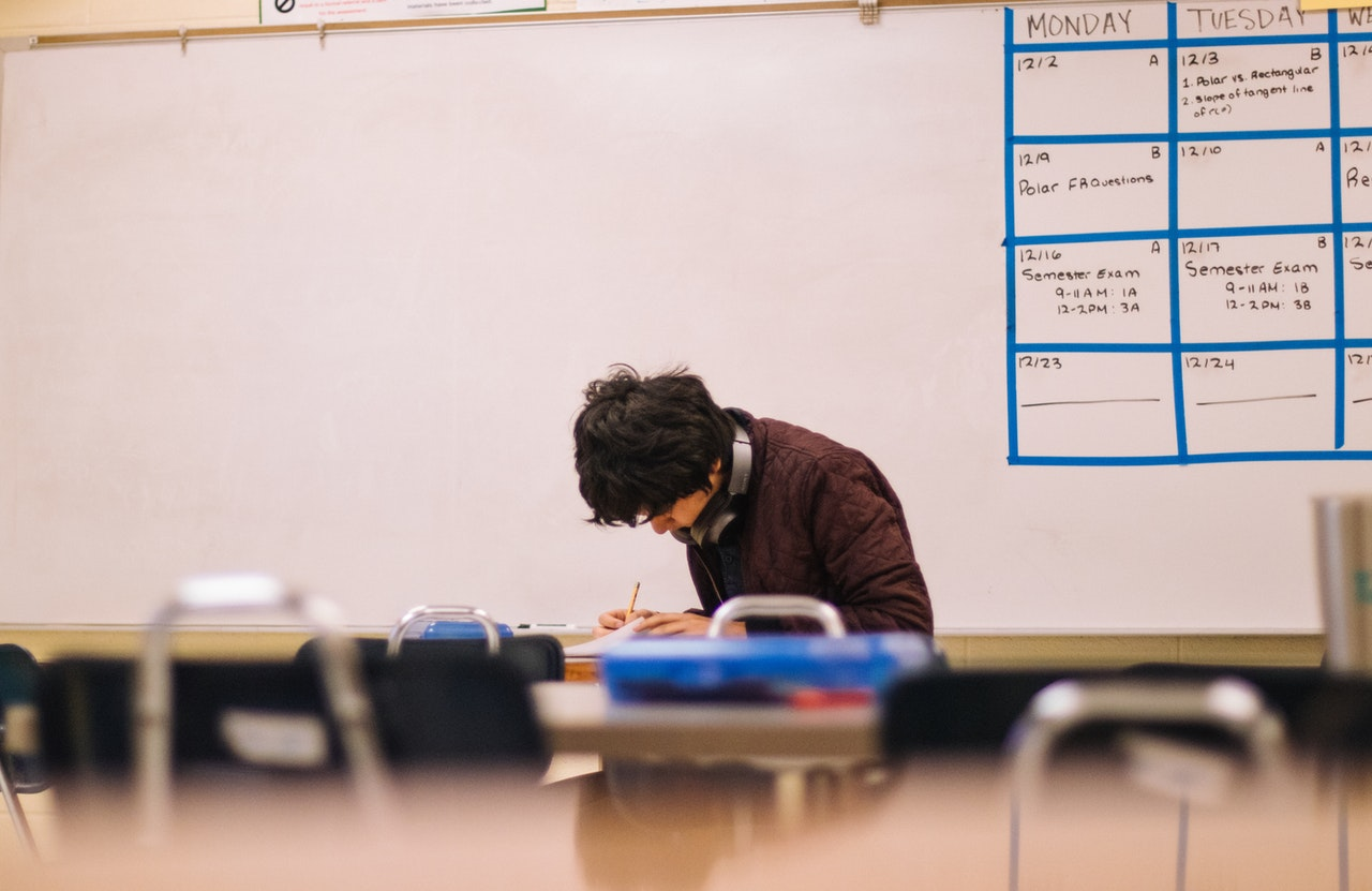 photo of a student inside a classroom