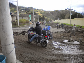 Photo: Loose wet mud is not Brian's favorite.