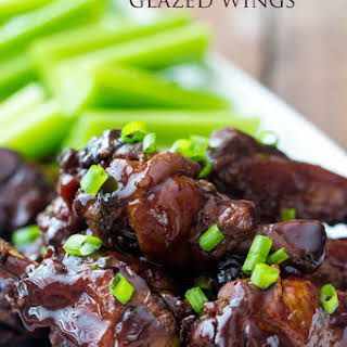 Slow Cooker Honey Garlic Glazed Wings.