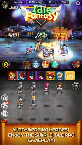 Idle Fantasy Merge RPG screenshot 2
