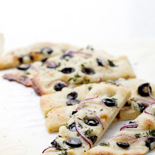Let's Eat | Herb Onion and Olive Foccaccia.