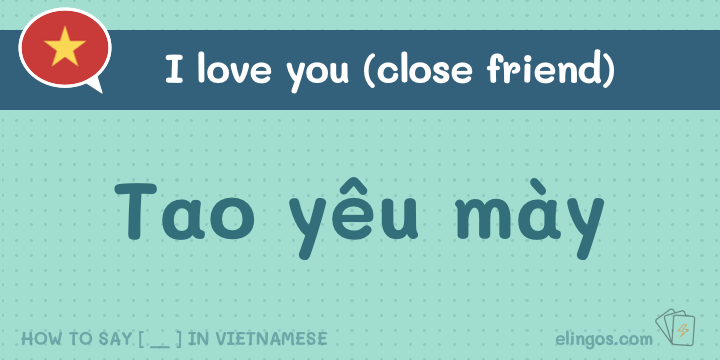 I love you to a friend in Vietnamese