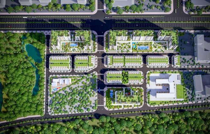 Diện tích cây xanh lớn trên toàn dự án