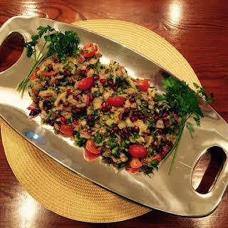 Momma Anita's Armenian Eggplant and Pomegranate Salad.