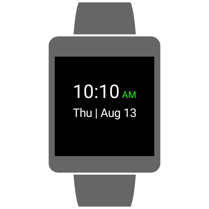 Simplistic Watch Face- screenshot