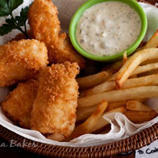 Halibut Fish & Chips with Market Street Tartar Sauce.