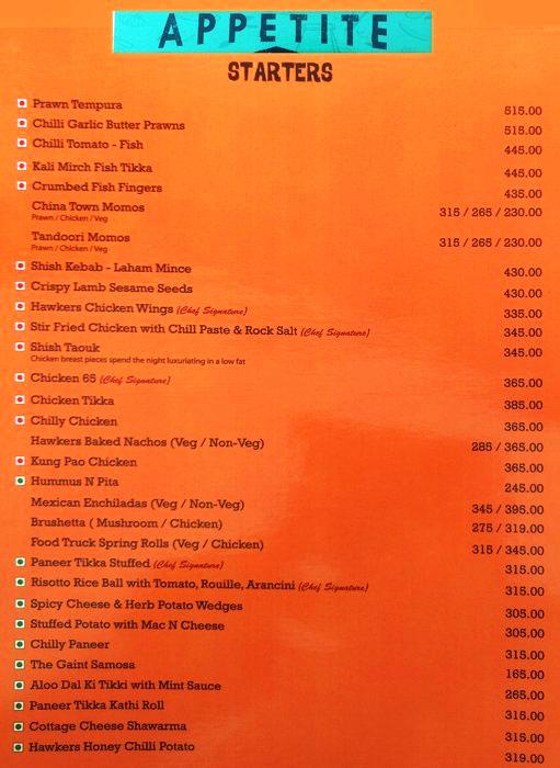 Cafe Hawkers menu 2