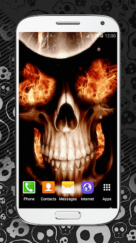 Get the coolest app for your smartphone and enjoy the scariest backgrounds ever with fire Skulls Live Wallpaper HD! These new skull images hq will beautify ...