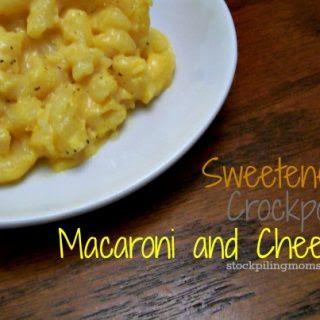 Sweetened Crockpot Macaroni and Cheese.
