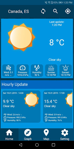 Screenshot for Weather Update With Time Date & Temperature Live in United States Play Store