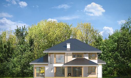 Dom z widokiem 3 F - Elewacja tylna