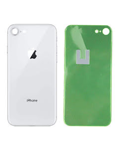 iPhone 8G Back Glass Silver/White